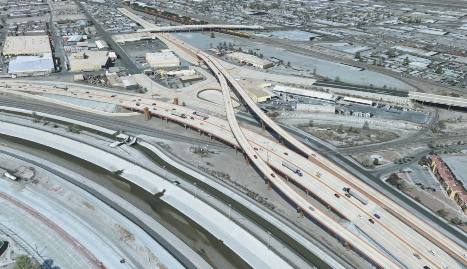 Rendering-New-Coles-Paisano-Interchange